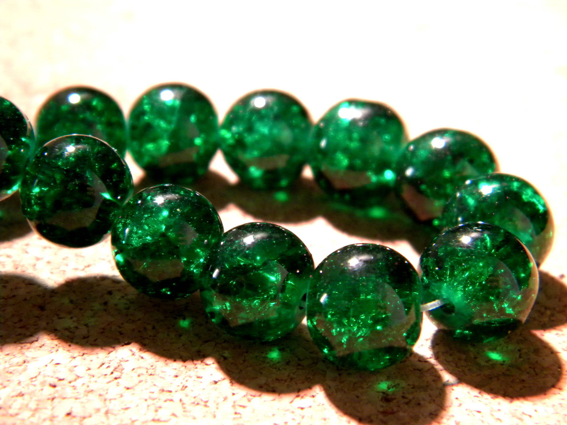 fabrication de bijoux 10mm perles de verre craquelé-violet foncé 40 perles