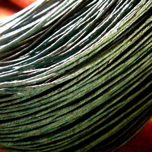 5 mètres de Fil Coton Ciré   Vert Emeraude  0,5 mm