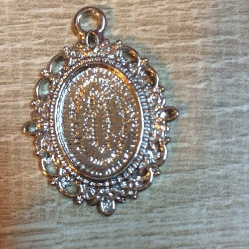 Support pendentif cabochon ovale