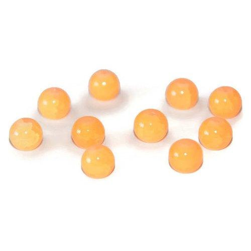 10 perles orange clair imitation jade craquelé en verre 8mm