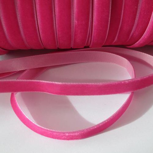 1m ruban velours rose  largeur 10 mm