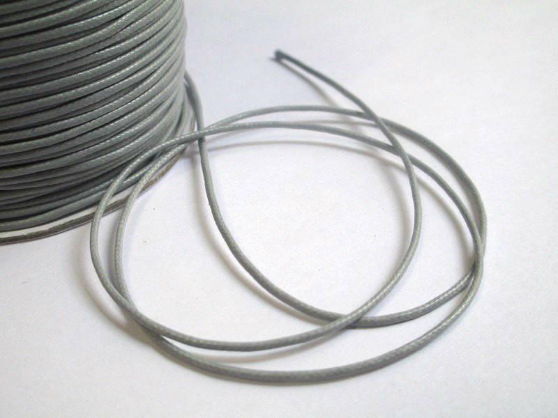 10m fil cordon polyester gris ciré 1mm