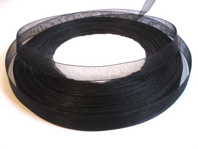 10m ruban organza noir 10mm
