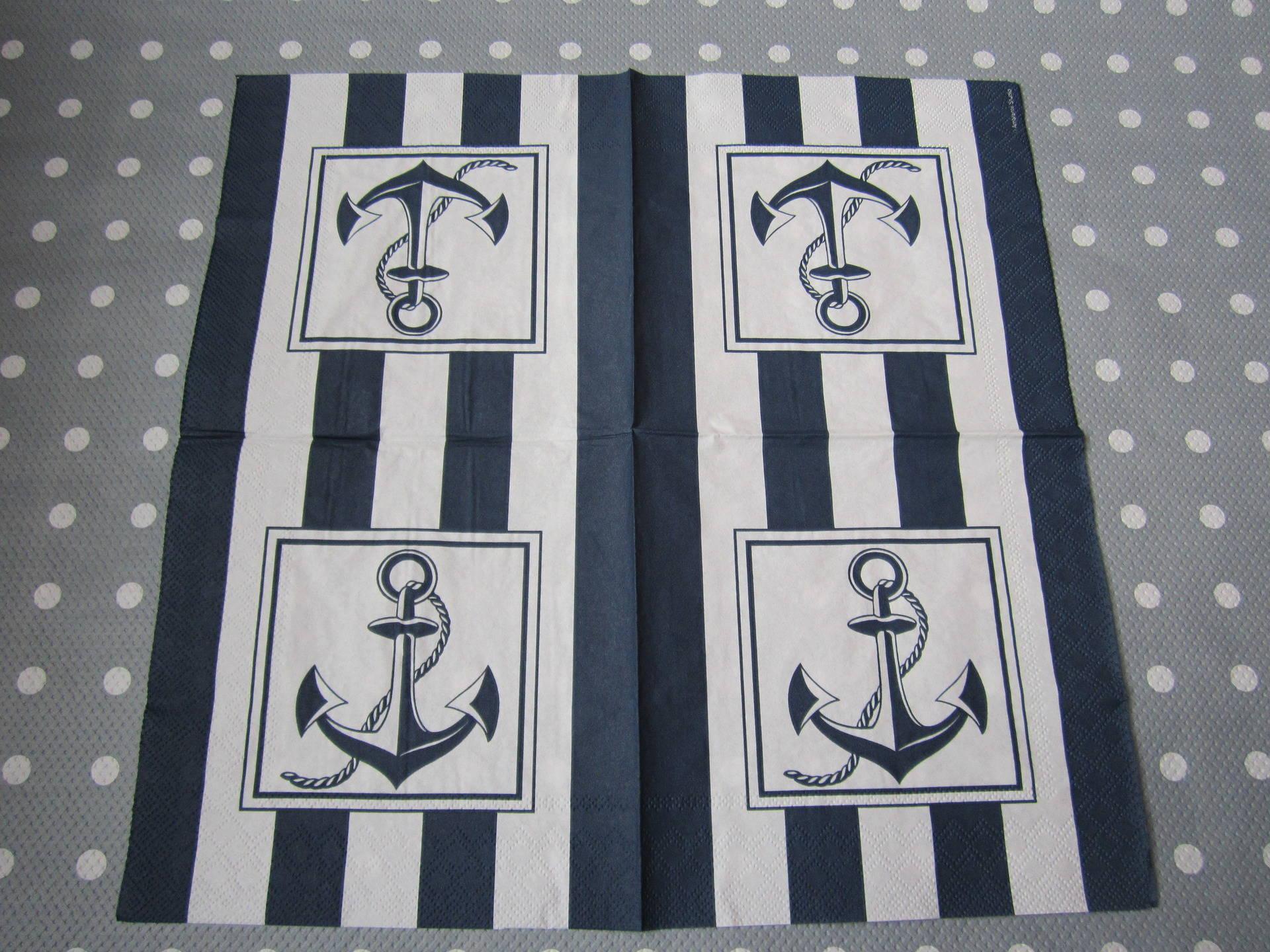 Serviette en papier Ancre  marine / Mer (121)