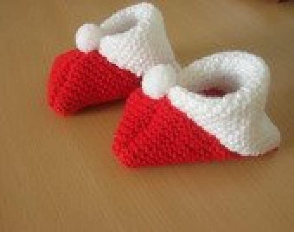chausson pour bébé en laine