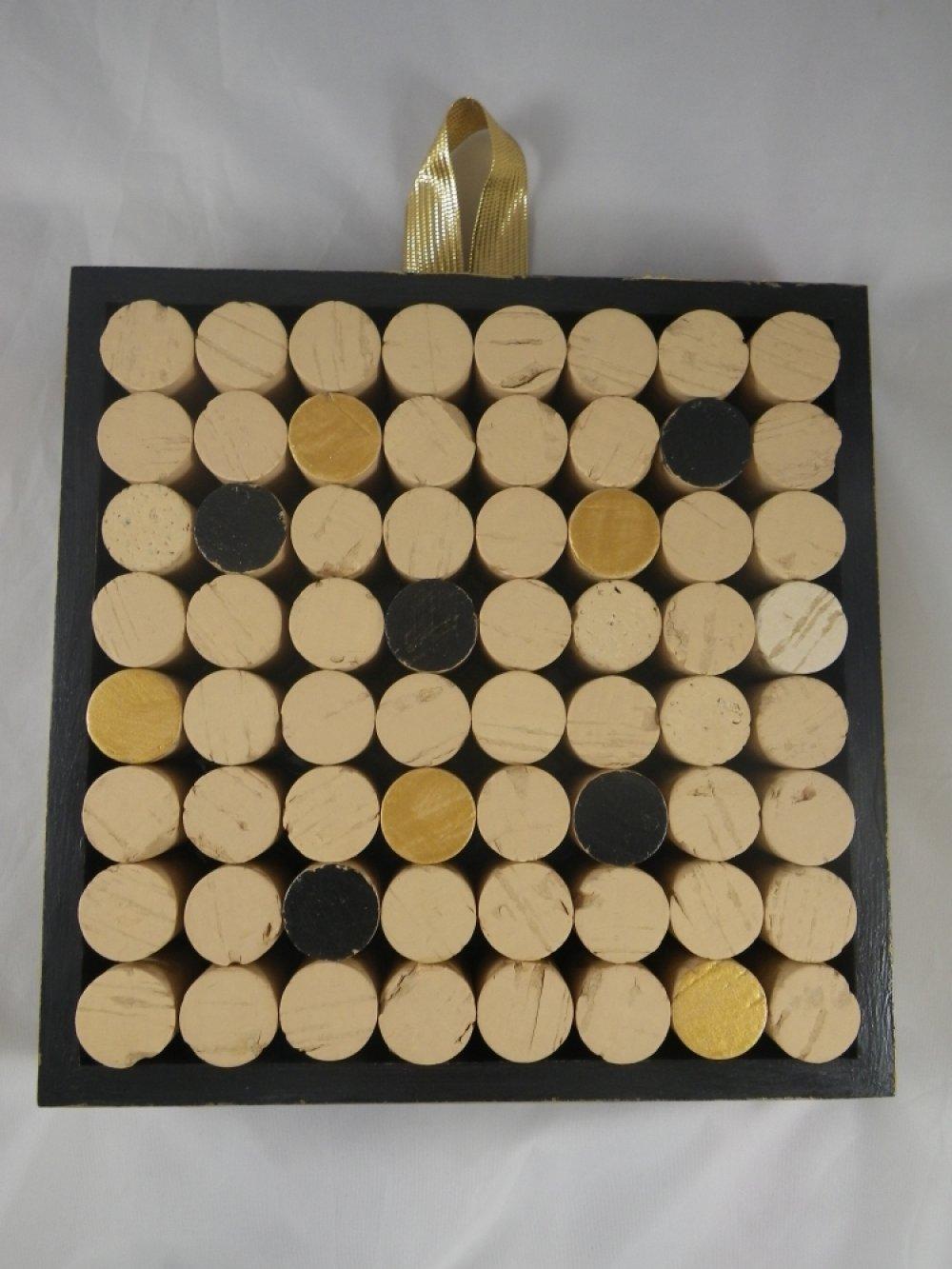 Tableau en liège décoratif noir et doré