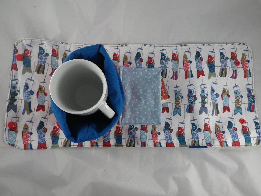 Mug bag poissons rouges et bleus