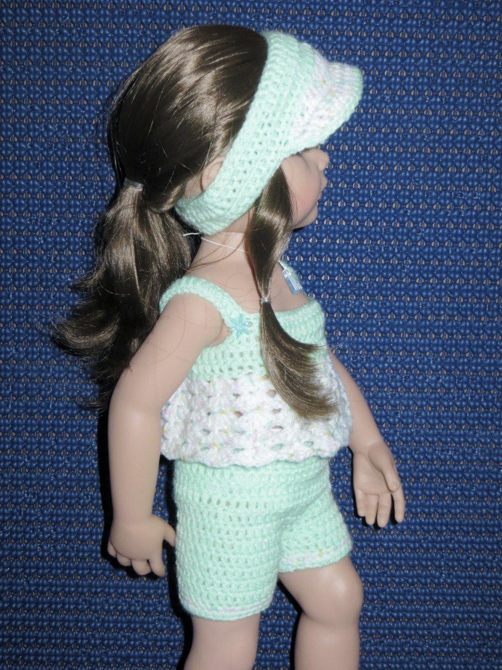 Fiche patron N G05 vêtements à confectionner au crochet pour poupée Hannah de Gotz