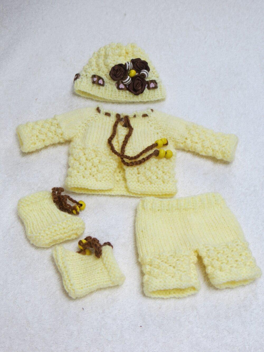 Fiche patron PDF N° P3 vêtements tricot  Poupée Poupons 25 cms Arias, Npk, Antonio juan
