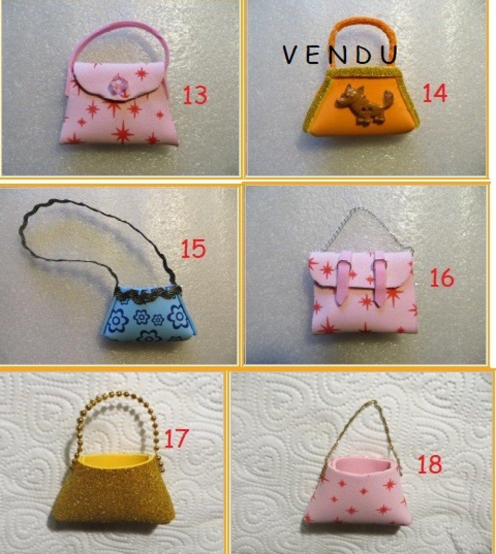 Au choix : 5 modèles de sacs fait main pour les poupées