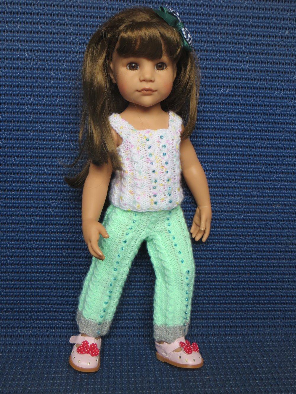 Pantalon et top pour poupée Hannah Götz, compatible Kidtz, AG de 46 / 50 cms