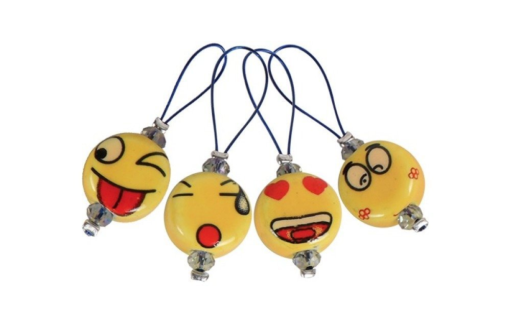 """Set de 12 anneaux marqueurs """"Smileys"""" de Knit Pro"""