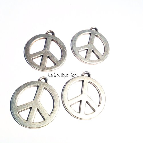 Pendentif peace and love x 4