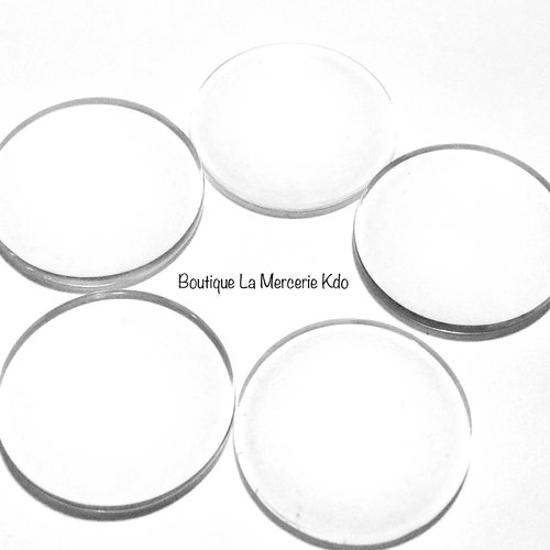 Cabochon rond - verre - 20 mm