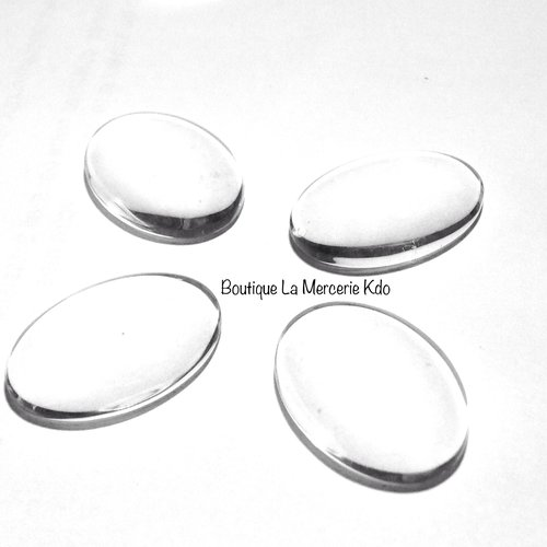 Cabochon ovale - verre - 25 mm