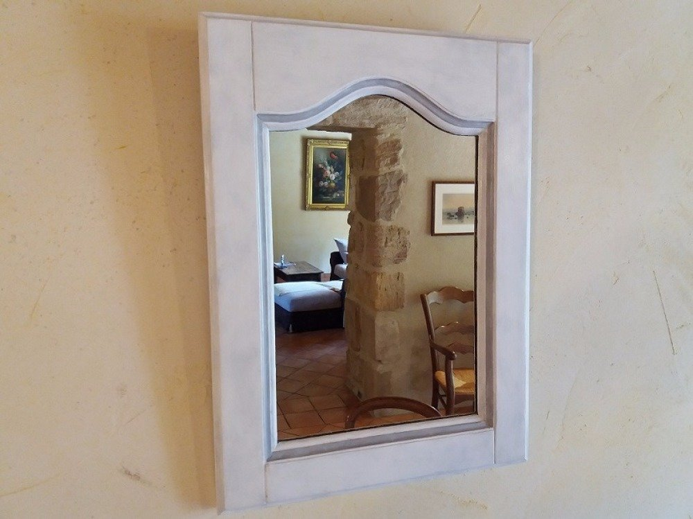 Table de toilette et son miroir