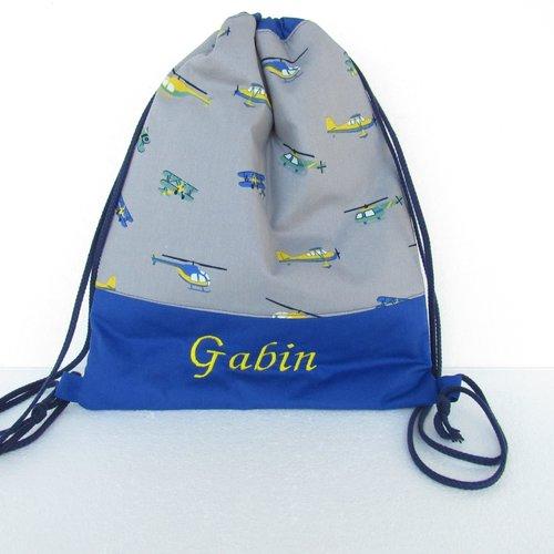 Sur commande sac à dos personnalisable  pour nounou, crèche,  maternelle, sac à dos élico