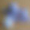 Trousseau prématuré fait-main layette en laine brassière bonnet et chaussons violet