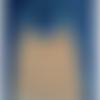 Bavoir élastique maternelle, orange à pois blancs - serviette bébé - serviette cantine