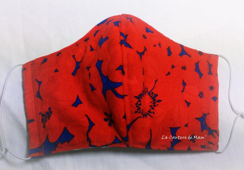 Masque de protection ROUGE - Taille FEMME/ADO