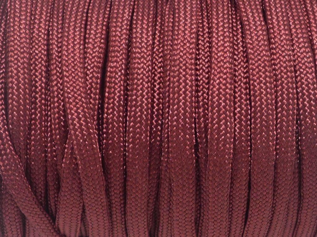 2m paracorde grenat bordeaux cordon nylon tressé  4,5mm x 2mm - 7 fils - corde nylon gainé