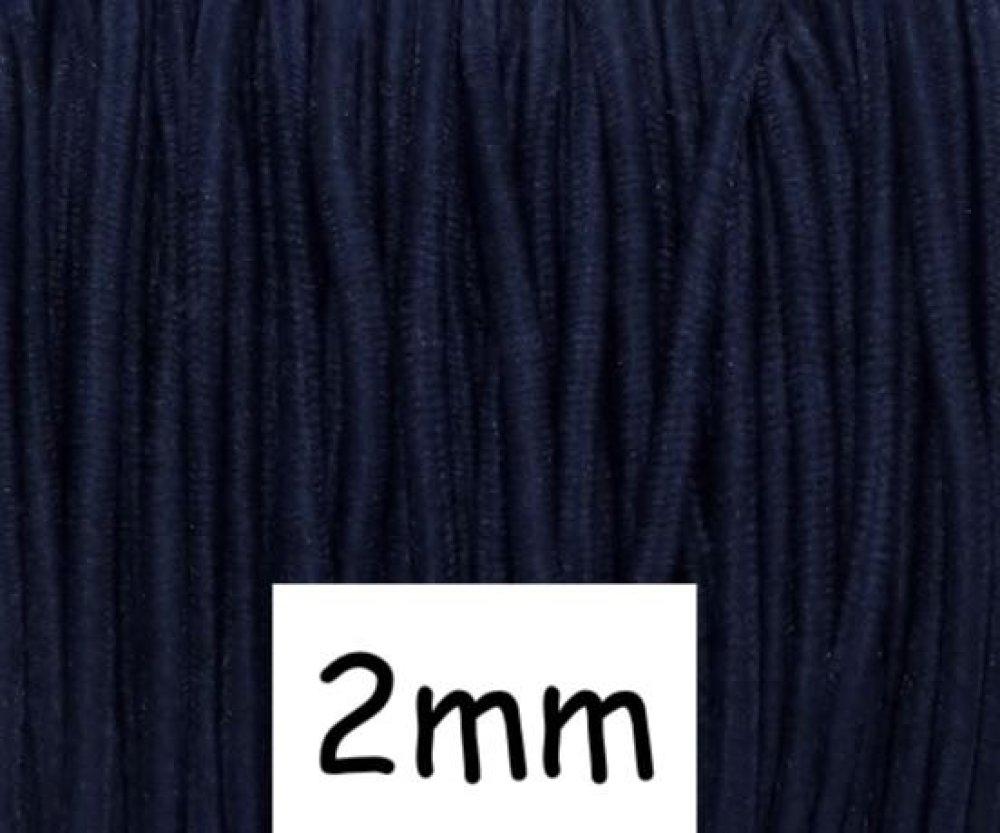 4m élastique 2mm bleu marine rond