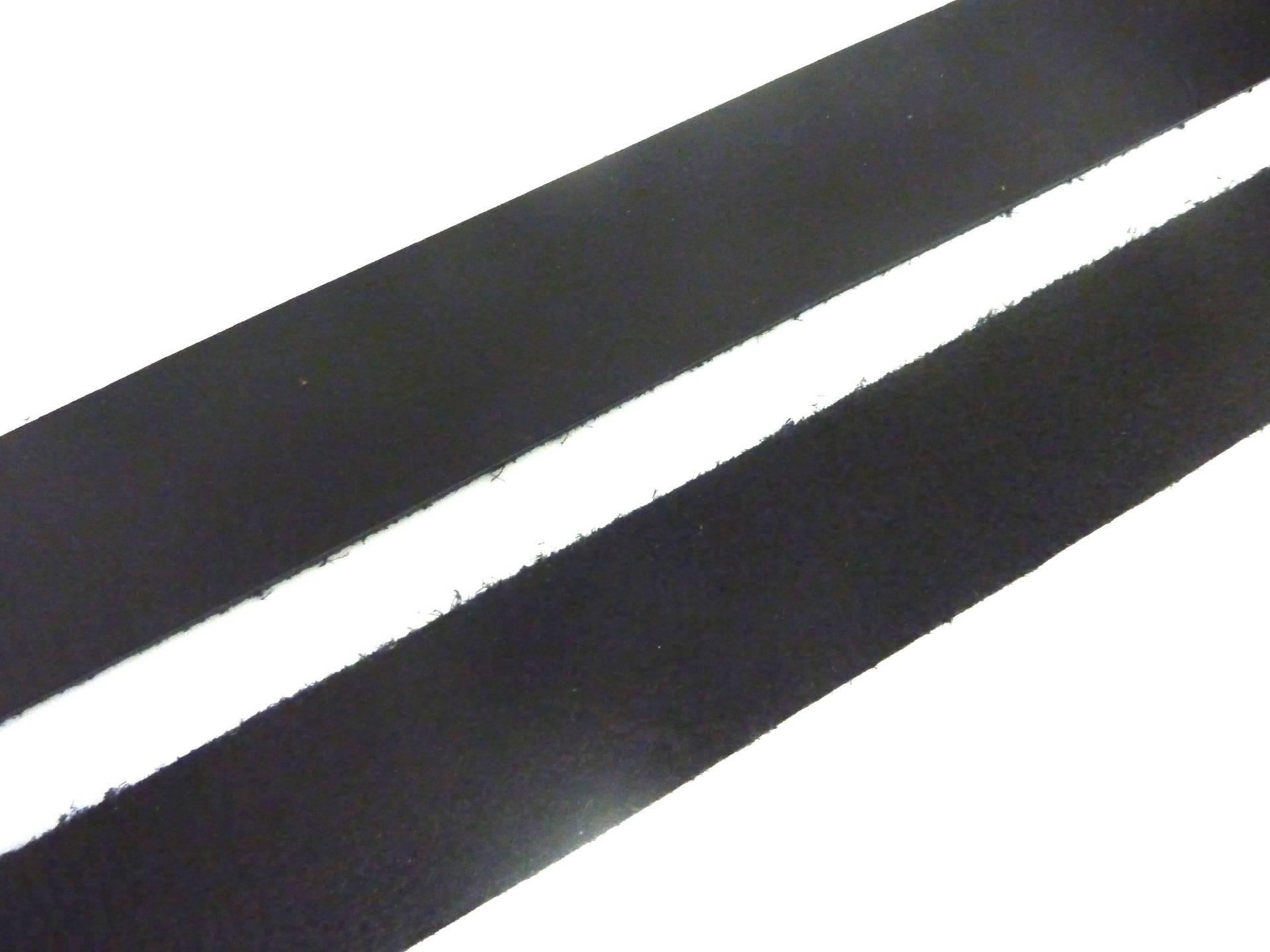 1m lanière cuir largeur 24,5mm de couleur noir - CUIR VERITABLE EUROPE