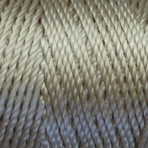 5 m fil, cordon nylon beige, crème, écru brillant 0,8mm