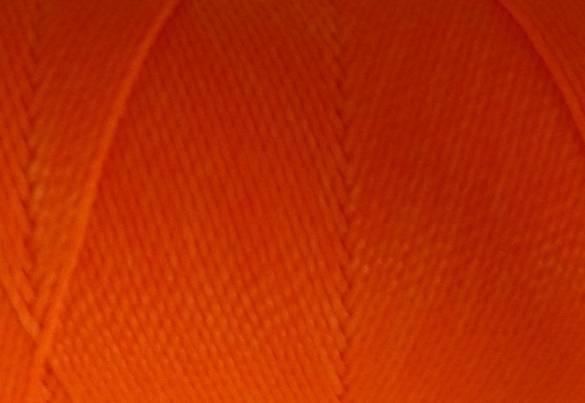 Fil polyester ciré de couleur orange fluo 0,8mm