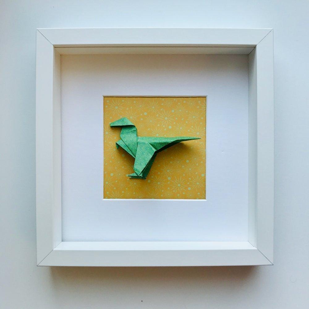 Cadre Origami Dinosaure