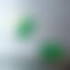 Lot de 2 perles tube en verre, vert, 20x10 mm, vintage