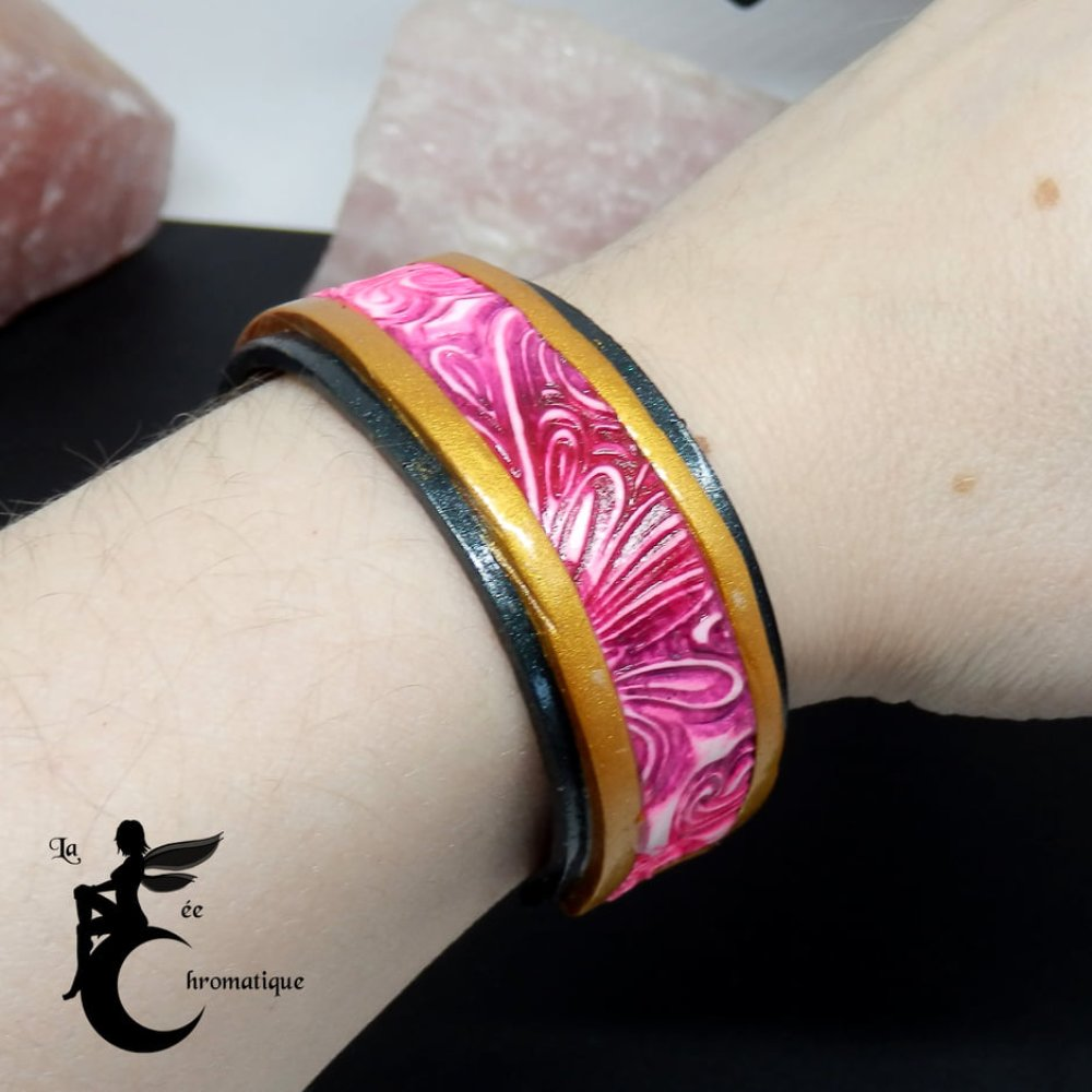Bracelet Volutes Chromatiques Rouge