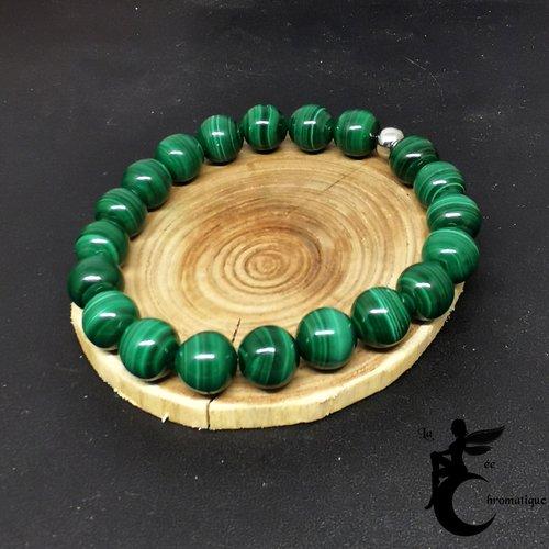 Bracelet sur mesure en perles de malachite 8mm