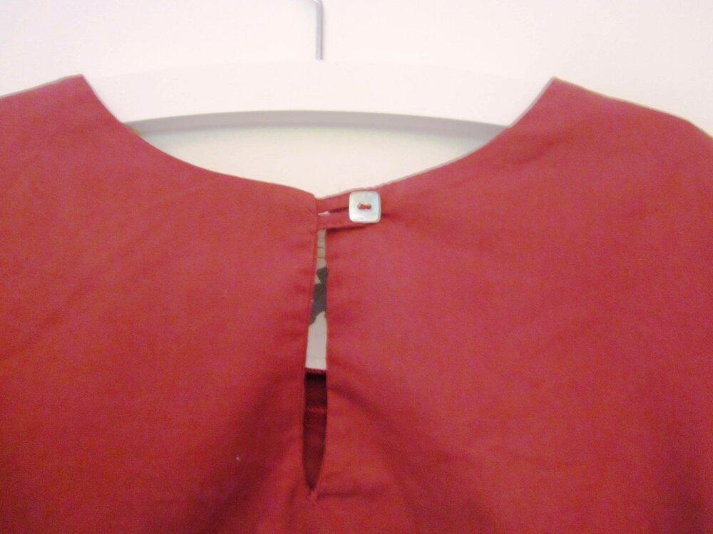 Chemise  pour garçon en taille 4ans et 6 ans pur coton coloris brique