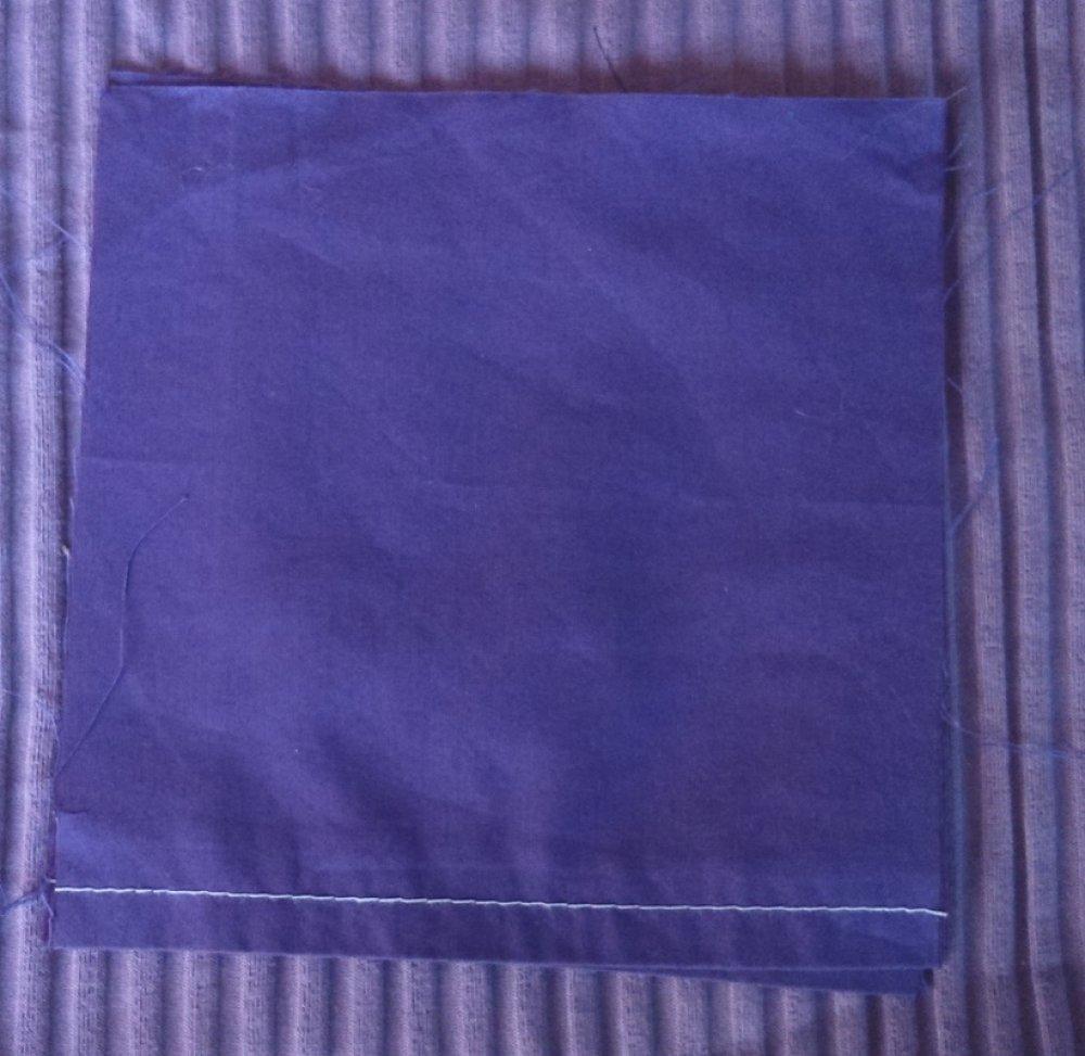 Lot de 2 coupons coton violet