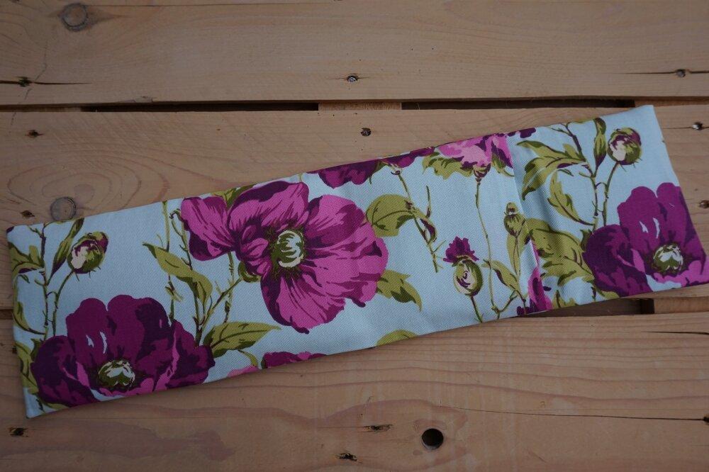 Bouillotte longue, sèche graines de lin bio + sa housse coton lavable
