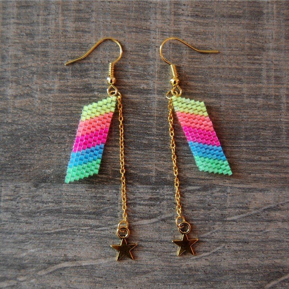 Boucles d'oreille Mélusine Rainbow