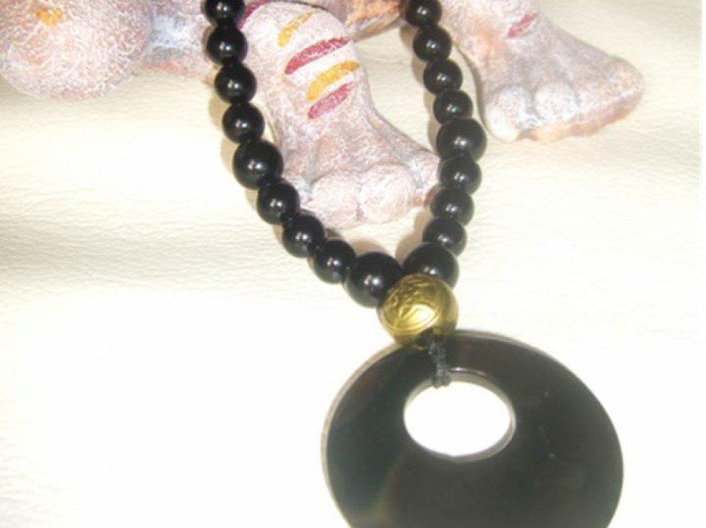 collier perle de jais