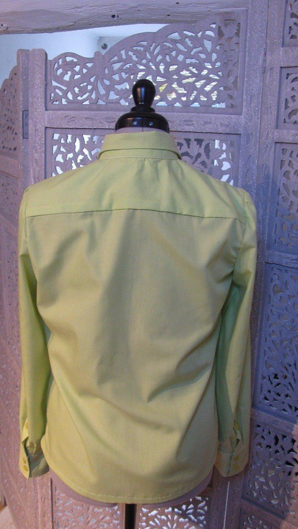 Chemise femme – coton vert clair