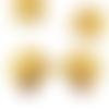 2x breloque carré art déco vintage estampe laiton brut fourniture métal doré 24mm x 27mm (pv-259)