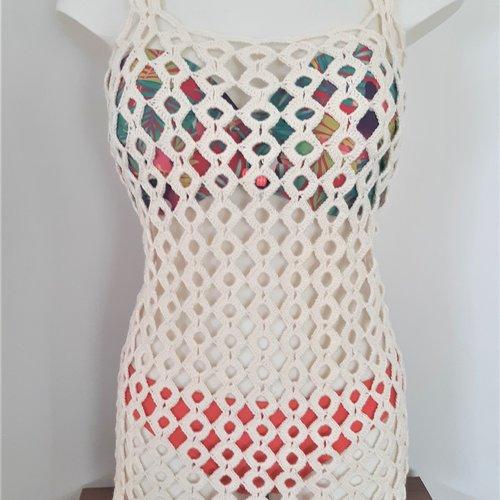 Tunique Robe Sortie De Plage Crochetee Main Un Grand Marche