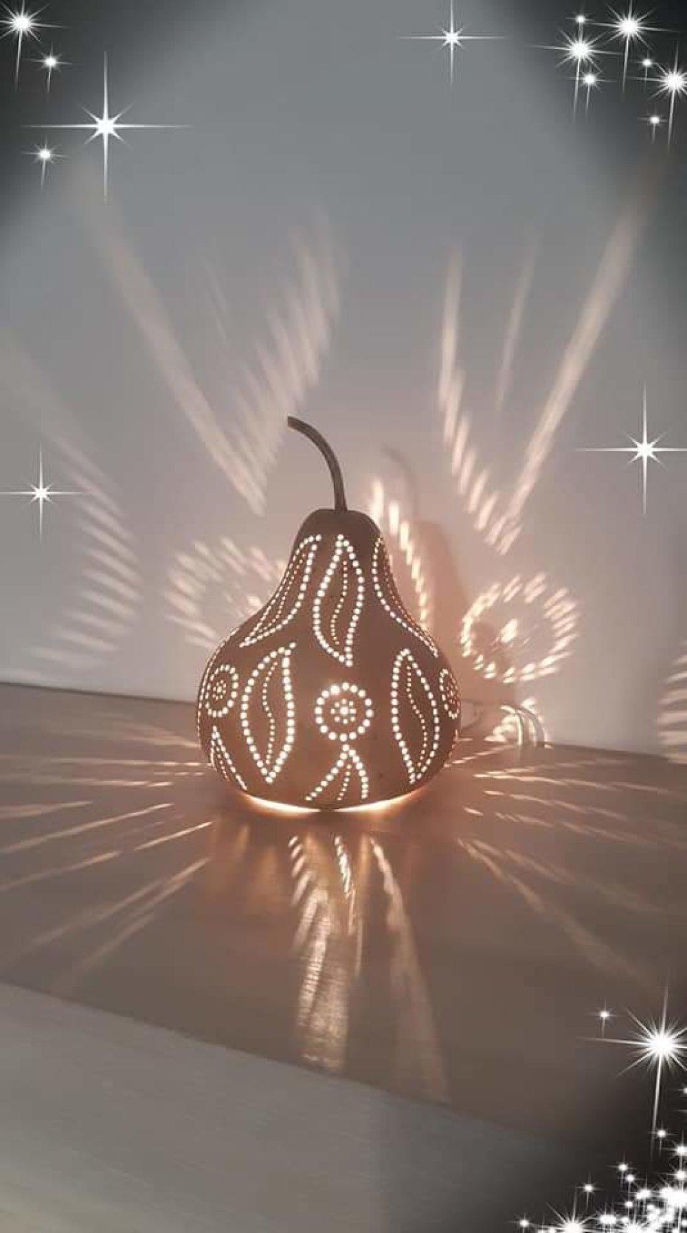 Petite lampe artisanale déco shabby rose