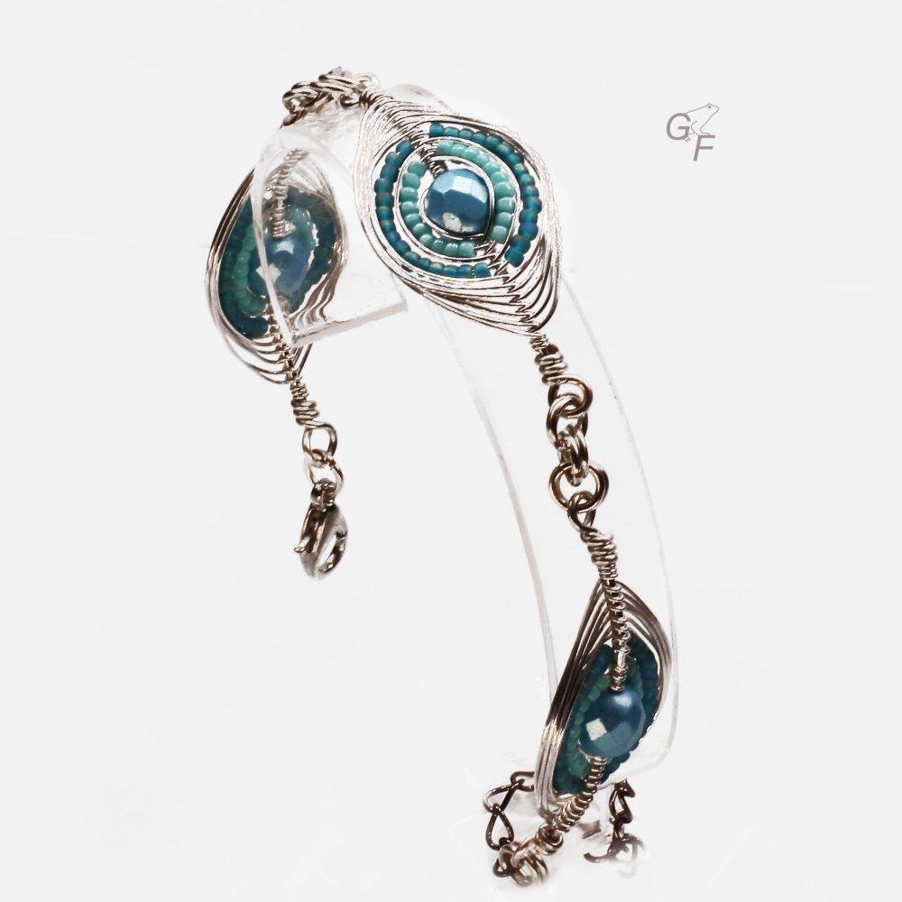 """Bracelet """"Losanges festifs"""" - Hivernal"""
