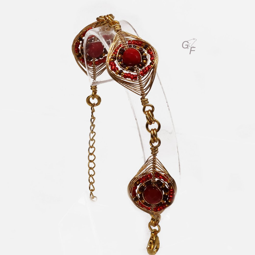 """Bracelet """"Losanges festifs"""" - Egyptien"""