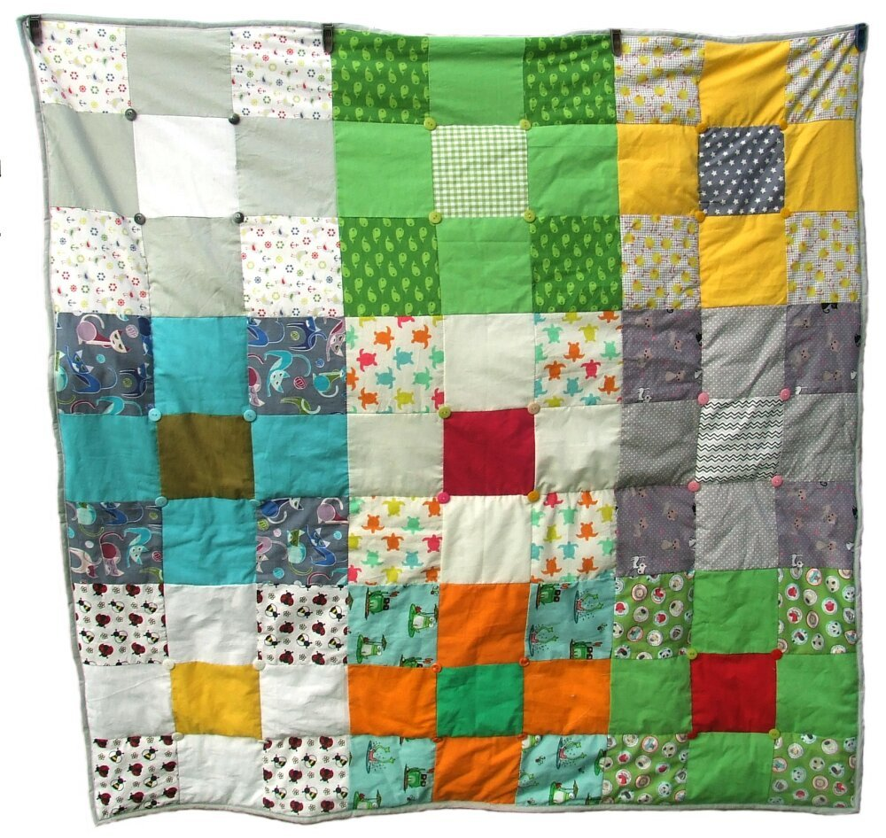 couverture en patchwork