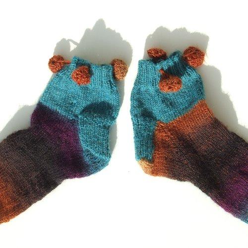 Socquettes à ponpons