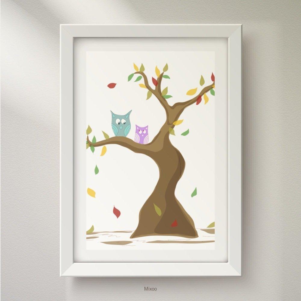 Affiche/poster/déco pour chambre d'enfant, art numérique, reproduction,  dessin, illustration