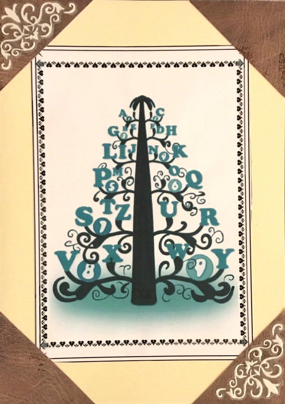 Carte de vœux/anniversaire/fête/Noël thème sapin style scrapbooking