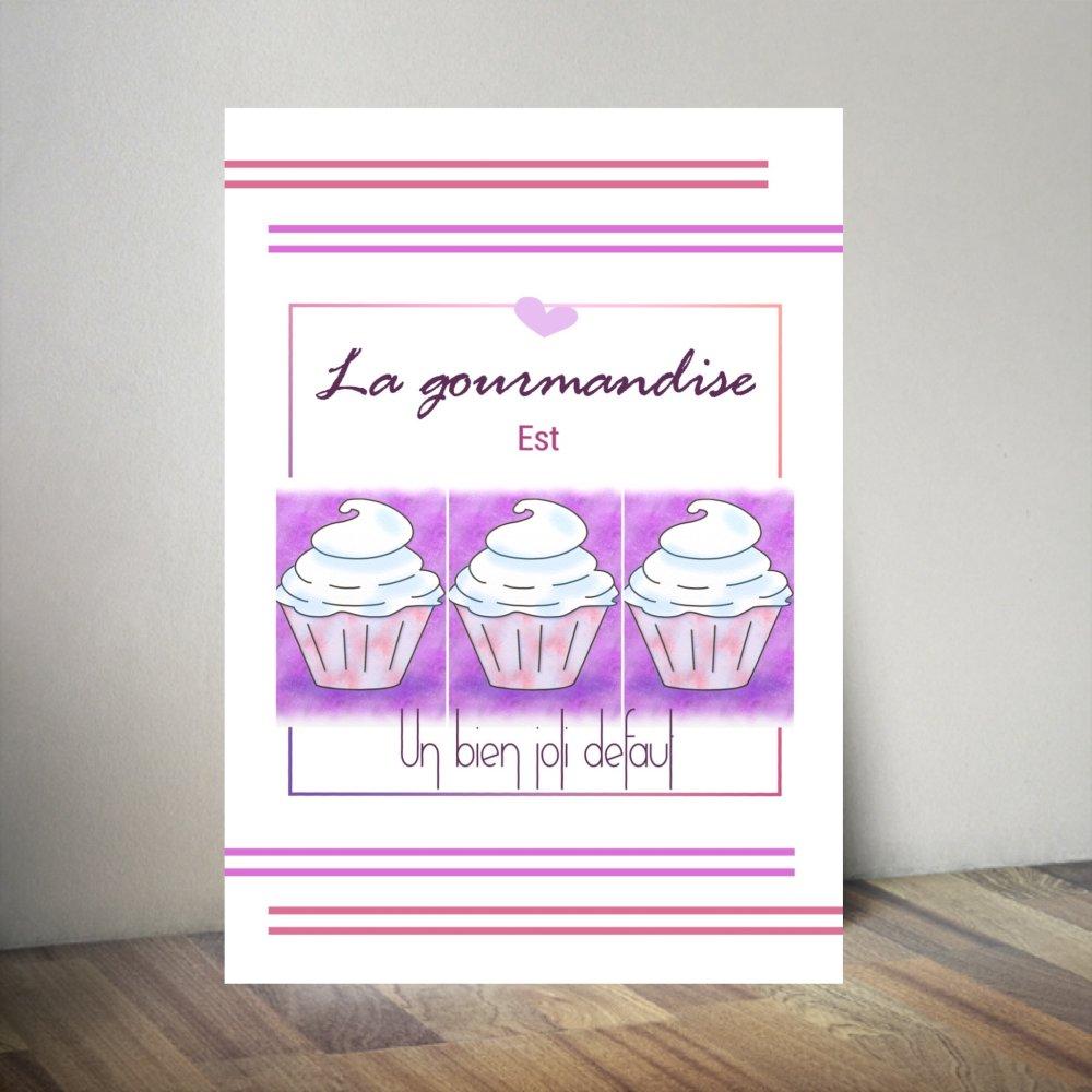 Affiche Citation Avec Illustration De Cake Pour Cuisine Un Grand