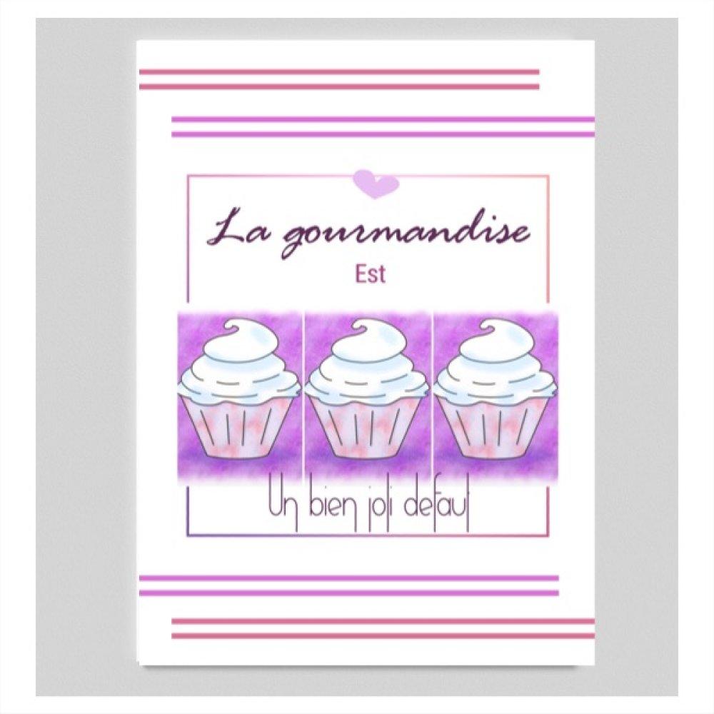 Affiche citation avec illustration de cake pour cuisine